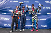 Podium: race winner 6#67 Hyundai / Rhys Millen Racing Hyundai Veloster: Rhys Millen, second place #43 Hoonigan Racing Division Ford Fiesta ST: Ken Block, third place #81 Subaru Rally Team USA Subaru WRX STi: Bucky Lasek