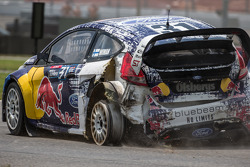 RALLYCROSS: #31 Olsbergs MSE Ford Fiesta ST: Joni Wiman will race for 3 laps without a left rear tire
