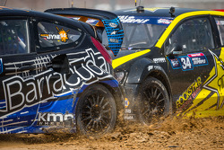 #14 Barracuda Racing Ford Fiesta ST: Austin Dyne and #34 Volkswagen Andretti Rallycross Volkswagen Polo: Tanner Foust