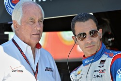 Helio Castroneves, Penske Racing Chevrolet and Roger Penske
