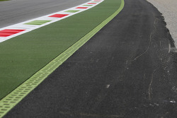The new Astroturf and tarmac run off at Parabolica