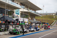 LMP cars lined up for qualifying