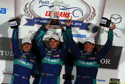 GTLM podium: winners Wolf Henzler, Bryan Sellers, Marco Holzer