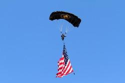 Pre-race parachuting