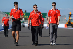 Alexander Rossi, Marussia F1 Team Reserve Driver, walks the circuit