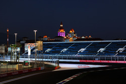 The Sochi Autodrom at night