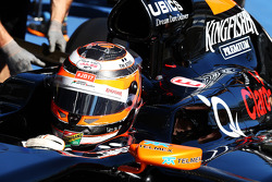 Nico Hulkenberg, Sahara Force India F1 VJM07 carries a message of support for Jules Bianchi
