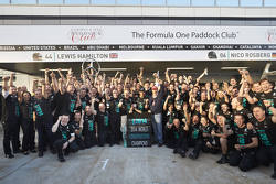 Mercedes AMG F1 celebrate winning the 2014 Constructors Championship