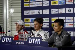 Press Conference, Mike Rockenfeller, Audi Sport Team Phoenix Audi RS 5 DTM, Marco Wittmann, BMW Team RMG BMW M4 DTM, Pascal Wehrlein, Mercedes AMG DTM-Team HWA DTM Mercedes AMG C-Coupe