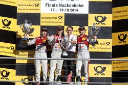 Podium, 2nd Mike Rockenfeller, Audi Sport Team Phoenix Audi RS 5 DTM, 1st Mattias Ekstrom, Audi Sport Team Abt Sportsline Audi RS 5 DTM