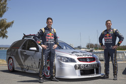 Jamie Whincup and Craig Lowndes with the race-spec Tribute Edition Sandman produced by Triple Eight Race Engineering