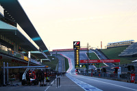 The pits at sunrise