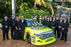 NASCAR Camping World Truck Series champion driver Matt Crafton with his team