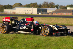 Stunt driver Martin Ivanov in the Lotus F1