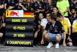 Red Bull Racing bedankt de vertrekkende Sebastian Vettel, Red Bull Racing