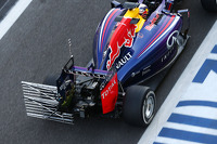 Daniel Ricciardo, Red Bull Racing RB10 running sensor equipment on the rear wing