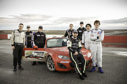 The eight finalists for the Mazda club racer shootout