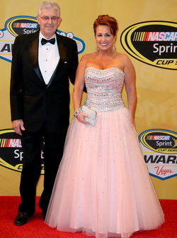 NASCAR Hall of Famer Leonard Wood and Lori Banks