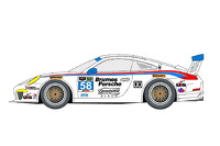 The livery of the Dempsey/Wright Motorsports Porsche