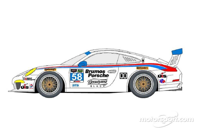 Das Design bei Dempsey/Wright Motorsports, Porsche
