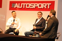 Andy Priaulx and WSR Team boss Dick Bennetts on the Autosport Stage