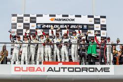 997 podium: class winner Saud Al Faisal, Anders Fjordbach, Keita Sewa, Andreas Weishaupt, Patrick Huisman, second place Burkard Kaiser, Manuel Metzger, Christian Raubach, third place Fahad Algosaibi, Clemens Schmid, Klaus Bachler, Jaap van Lagen