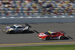 #44 Magnus Racing Porsche 911 GT America: John Potter, Andy Lally, Marco Seefried, Martin Ragginger, #49 AF Corse Ferrari 458 Italia: Pasin Lathouras, Michele Rugolo, Rui Aguas, Matt Griffin