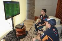 Dani Pedrosa and Marc Marquez, Repsol Honda Team play video games