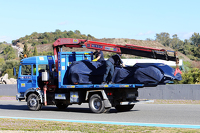 The Scuderia Toro Rosso STR10 of Carlos Sainz Jr, Scuderia Toro Rosso is recovered back to the pits on the back of a truck