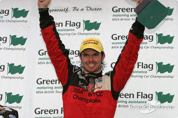 Podium: BTCC 2004 champion James Thompson