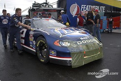 Miller Lite Dodge crew goes to pre-race technical inspection line