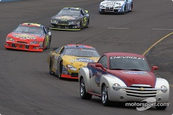 Pace car leads the field to the restart