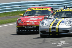 #44 The Race Site.com Porsche 996: Craig Stanton, David Murry, #81 G&W Motorsports Porsche 996: Tracy Krohn, Joe Fox
