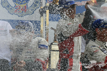 LM P1 podium: champagne for everyone