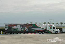 Andretti Green Racing transporter