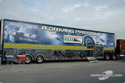 Grand American Rolex Sports Car Series transporter