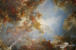 Visit of the Château de Versailles: a typical ceiling at Versailles