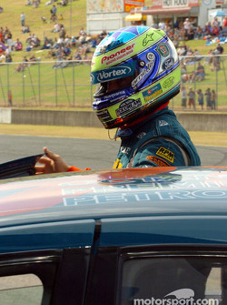 Russell Ingall had to settle for the third row on the grid