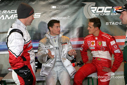 Colin McRae, David Coulthard and Michael Schumacher