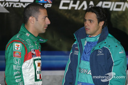 Tony Kanaan and Felipe Massa