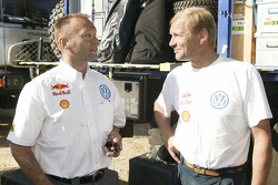 Volkswagen team presentation: Volkswagen Motorsport Director Kris Nissen with works driver Juha Kankkunen