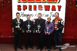 South Boston Speedway Division Champions: Late Model Stock Champion Timothy Peters, Limited Sportsman Champion Jonathan Bailey, Pure Stock Champion Tommy Wooldridge, Grand Stock Champion Terri Williams and Modified Champion Thomas Stinson