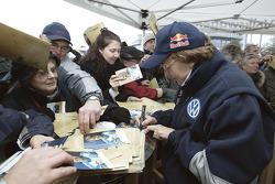Volkswagen Motorsport's departure for Barcelona: Fabrizia Pons