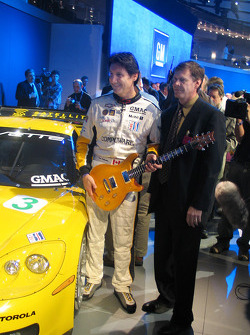 Ron Fellows holding the Z06 Guitar