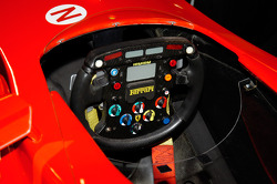 The Ferrari's steering wheel