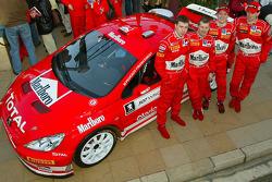 Marlboro Peugeot Total press conference: Markko Martin, Michael Park, Timo Rautiainen and Marcus Gronholm