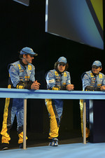Franck Montagny, Fernando Alonso and Giancarlo Fisichella