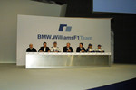 Frank Williams, Dr Mario Theissen, Mark Webber, Patrick Head, Sam Michael, Antonio Pizzonia and Nick Heidfeld