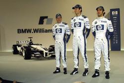 Nick Heidfeld, Mark Webber and Antonio Pizzonia