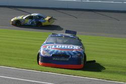 Jon Wood spins in the last lap